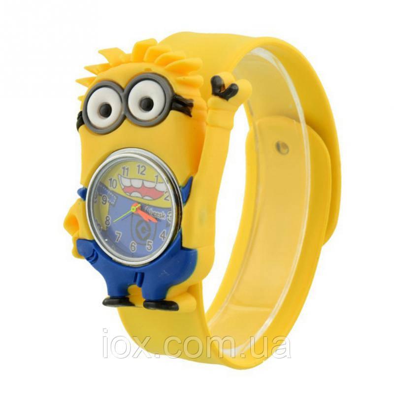 Детские кварцевые наручные часы Миньен из мультфильма Гадкий Я