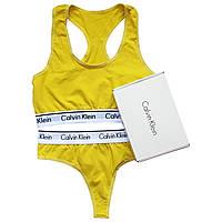 Женский комплект Calvin Klein желтый