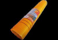 Сетка стеклотканевая оранжевая армирующая фасадная штукарурная 160г\м2 - 5*5мм ( для наружных работ)