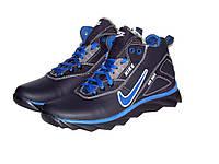 Распродажа !!! Кожаные мужские зимние кроссовки  Nike AIR Max, синие