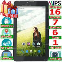 2 сим Планшет Смартфон LENOVO Tab 7 IPS 6 ядер 3G ОЗУ 1 Gb ROM 16 Gb 5 Мп Android 5 1 GPS 3000 mAh Подарки
