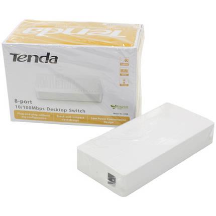 ➛Комутатор TENDA S108 8 port 10 100 Base TX desktop 8 портів IEEE 802.3, IEEE 802.3 u Auto MDI / MDIX, фото 2