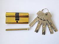 Цилиндр 060.09 цвет латунь 60мм,(30х30) ключ/ключ