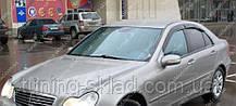 Ветровики окон Мерседес С-класс W203 (дефлекторы боковых окон Mercedes-Benz C-Klasse W203)