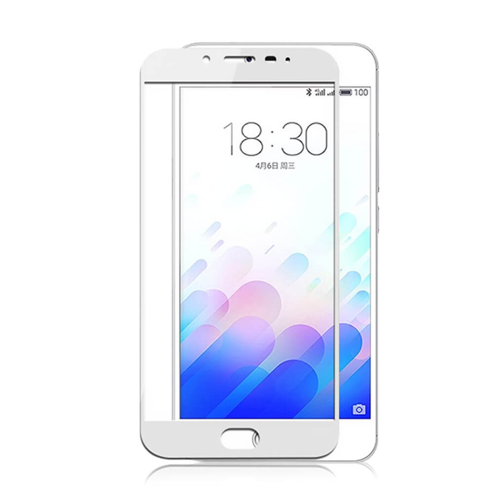 Защитное стекло Meizu M3s / M3 / M3 mini full cover white