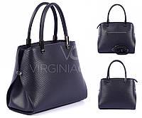Черная кожаная сумка Virginia Conti