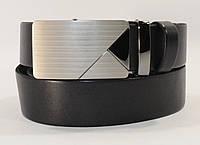 Кожаный ремень автомат мужской универсальный 8005-301 черный