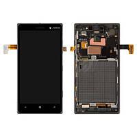 Дисплей (экран) для Nokia Lumia 830 + с сенсором (тачскрином) и рамкой Black