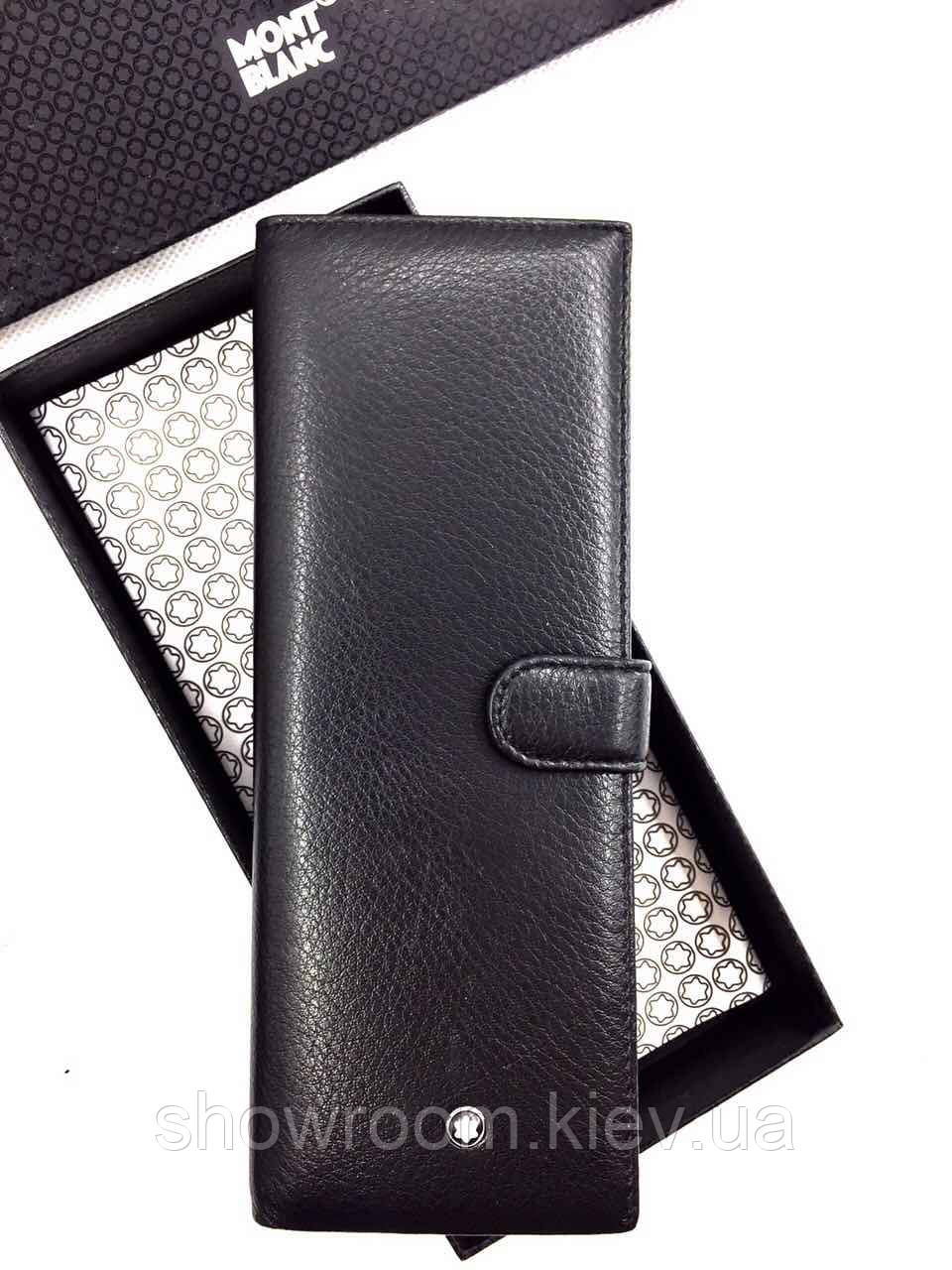 Мужская кожаная визитница в стиле Montblanc (2805) black