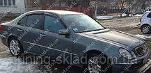 Ветровики окон Мерседес Е-Класс W211 (дефлекторы боковых окон Mercedes E- Klasse W211)