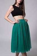 Зеленая юбка из фатина