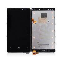 Дисплей (экран) для Nokia Lumia 920 + с сенсором (тачскрином) и рамкой Black