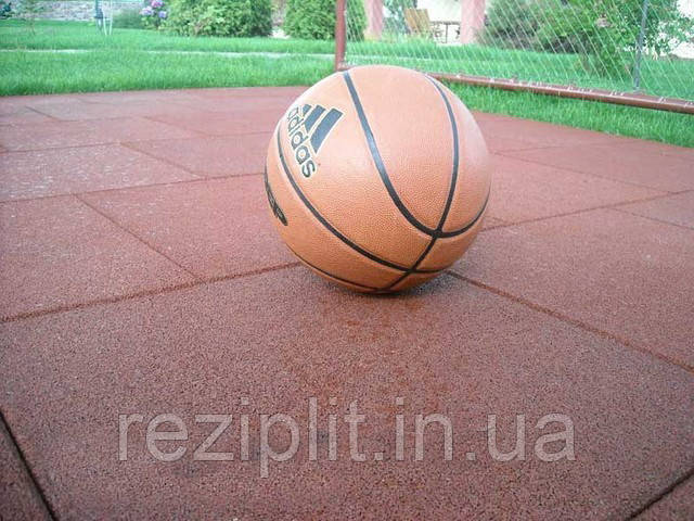 Мягкое покрытие для спортивной площадки. Резиновая плитка, 30 мм