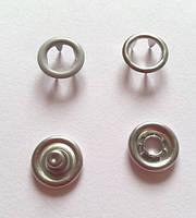 Кнопка 9,5 мм матовая № 523 - серая