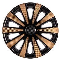 Колпаки на колеса Карат Super Black  GOLD 14 Карбон