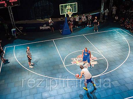 Напольное резиновое покрытие для спортивных площадок, резиновая плитка 20мм