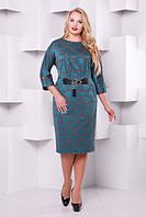 Нарядное женское платье Тэйлор изумруд