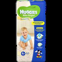 Подгузники Huggies Ultra Comfort для мальчиков 4+ (10-16 кг) 60 шт.