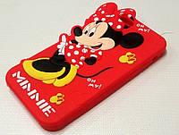 Чехол детский силиконовый игрушка minnie mickey mouse red для iPhone 6/6s