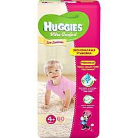 Подгузники Huggies Ultra Comfort для девочек 4+ (10-16 кг) 60 шт.