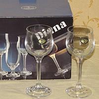Новые бокалы, фужеры для вина Diana Bohemia 6шт. 150 мл