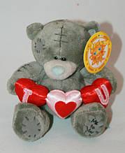 Плюшевый мишка Тедди с тремя сердцами Сонечко 14 см