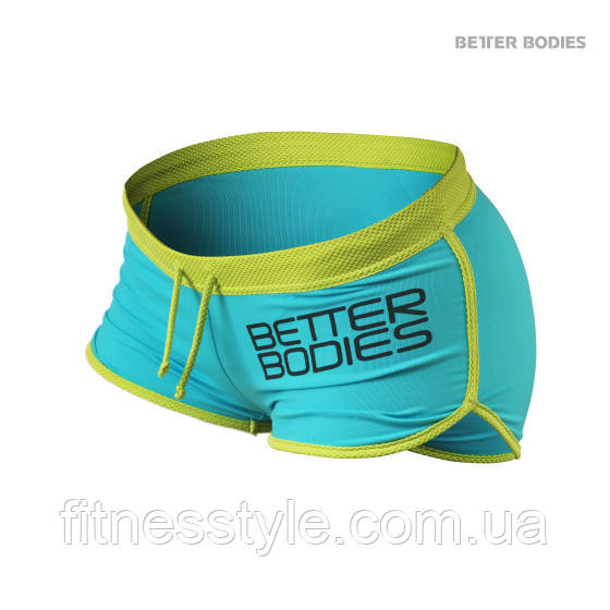 Спортивні шорти Better Bodies Contrast Hotpants Aqua / Lime