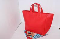 Женская стильная сумка красная  эко-кожа