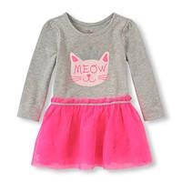 Платье с кошечкой Мяу childrensplace