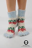 Носочки с пальцами, шерстяные носки с пальцами, фото 1
