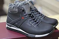 Кожаные мужские зимние ботинки Columbia model 121 , чёрные