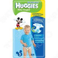 Подгузники Huggies Ultra Comfort для мальчиков 5 (12-22 кг) 64 шт.