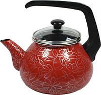 Чайник 2,2 л Ажур красный 2598В