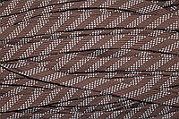 Шнур плоский 15мм (100м) коричневый+белый , фото 1