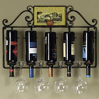 Подставка кованая под бутылки  и бокалы