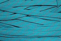 Шнур плоский 15мм (100м) мор.волна+св.серый , фото 1