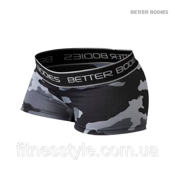 Спортивні шорти Better Bodies Fitness Hot Pant, Grey Camoprint