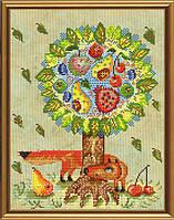 Набор для вышивания нитками и бисером Сказочное дерево ННД 3038