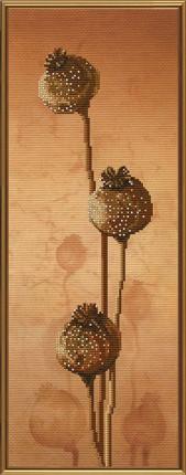Набор для вышивания нитками и бисером Маковки ННД 4033