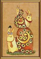 Набор для вышивания нитками и бисером Семья улиток ННД 4027