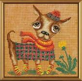 Набор для вышивания нитками и бисером Чихуахуа ННД 4028
