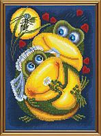 Набор для вышивания нитками и бисером Квакушкина свадьба ННД 4083
