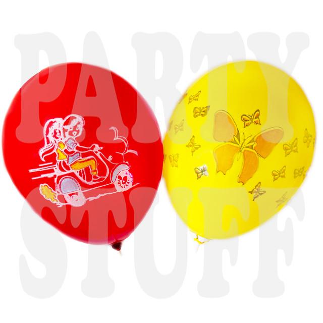 шарики воздушные 10 дюймов детские ассорти