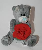 Мишка плюшевый Тедди с цветком Сонечко 14