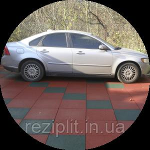 Резиновая плитка для гаража и паркинга. Резиновое покрытие для автомастерских.
