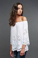 Белая блуза из прошвы