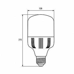 LED Лампа высокомощная 40W E27 6500K, EUROLAMP, фото 2
