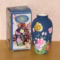 Маленькая ваза с ручной росписью 13 см