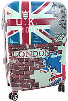 Пластиковый практичный чемодан, 4-х колесный Suitcase London big, Лондон