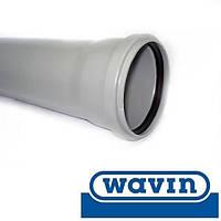 """Труба канализационная """"Wavin HT"""" внутр. с раструбом d=50\1000мм (Чехия)"""